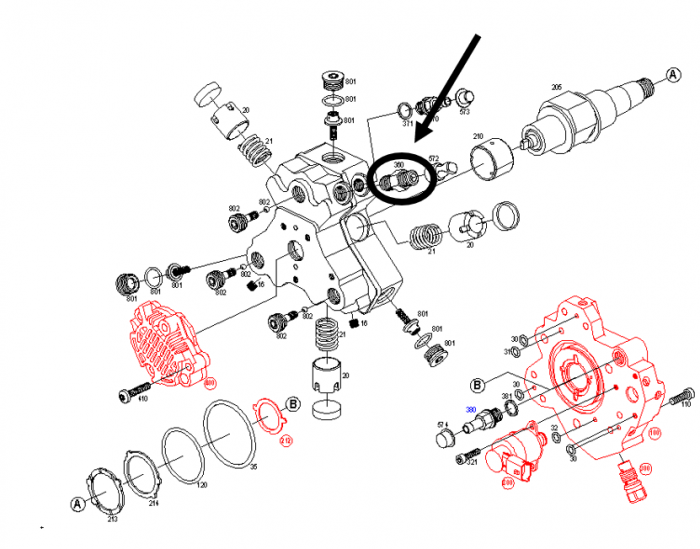 Bosch - Genuine Bosch High Pressure Pump (CP3) Fitting, 2001-2005 GM 6.6L LB7/LLY